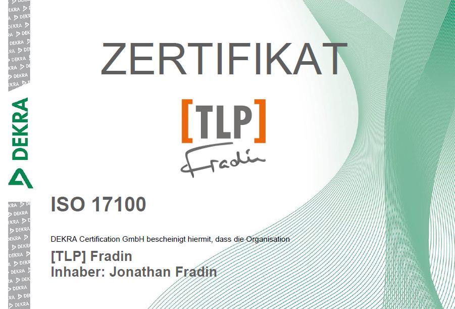 TLP Fradin ISO 17100